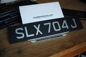 Laminated silver lta legal license plate singapore