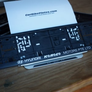 Hyundian Komoco Motors Limited Number Plate Holder